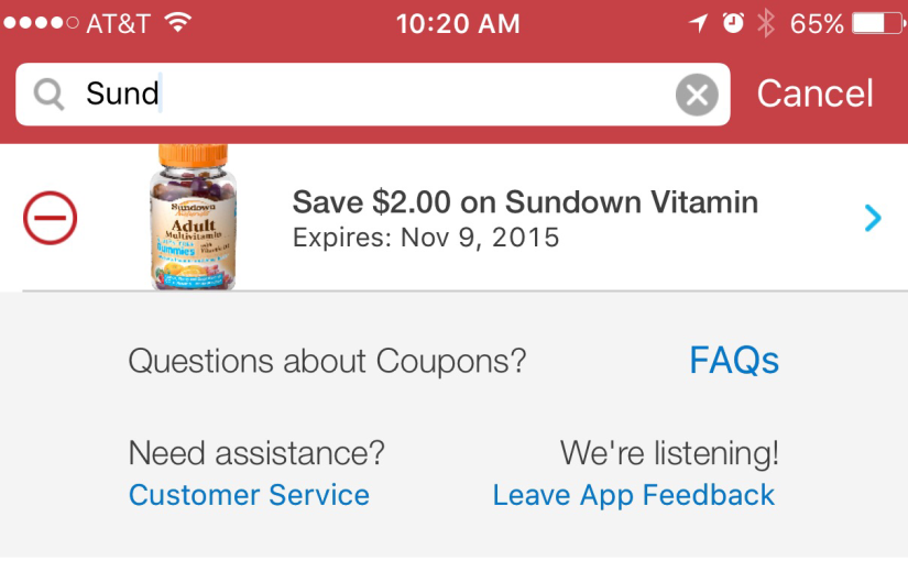 Sundown Gummy Vitamins Only $2 at Kroger & Their Affiliated Stores