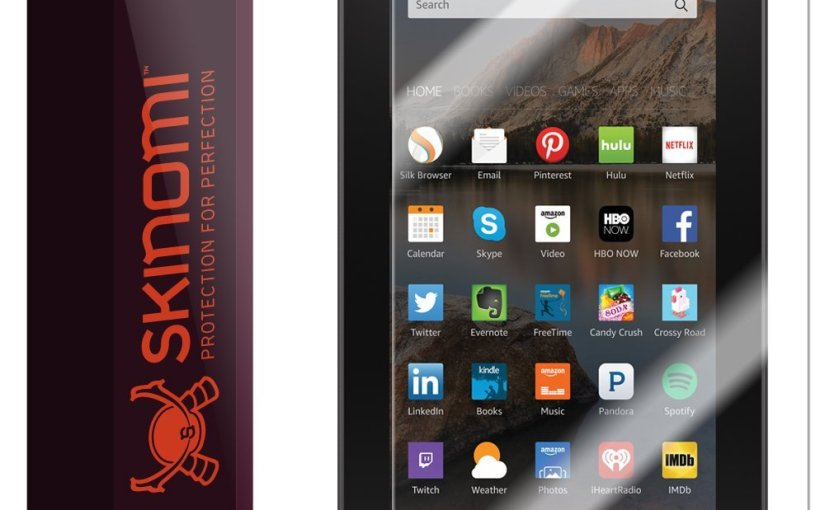 Review Skinomi® TechSkin – Amazon Fire Screen Protector 7″