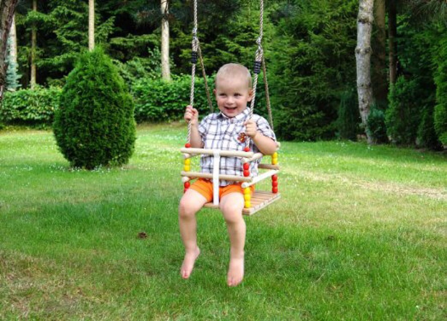 Greta The Fox Wooden Baby Toddler Swing Review