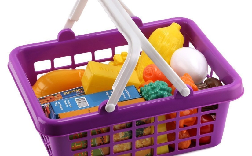 Click N Play 33 piece Pretend Grocery Toy Shopping Set REVIEW #vegetablefoodplayset
