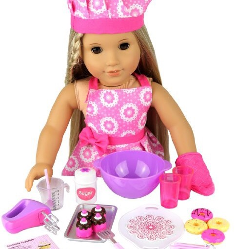 Click N Play American Girl Doll Baking Set Review #kidspretendbakingset