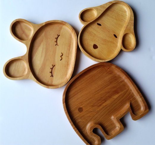 Natural All Wood Childs Plate by LifeTime Review