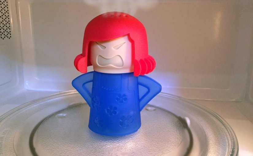 Make cleaning fun with #Angry #Mamma Microwave Steemer #Going Green #kitchengizmo #gotitfree