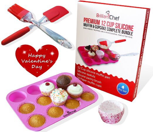 Valentine Pink Silicone Baking Bundle Review #MuffinPan #gotitfree