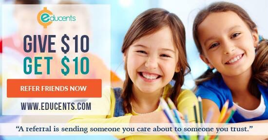 Educents just improved their affiliate program! $10 for you & $10 forme!