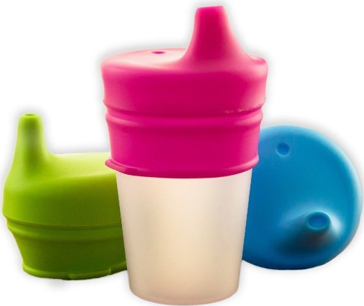 Turn and cup into a sippy cup on the go! #osiplids