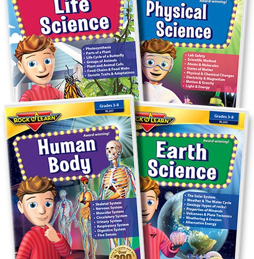 #Review Rock N Learn Science DVD Set  for grades 3-8 #rocknlearn