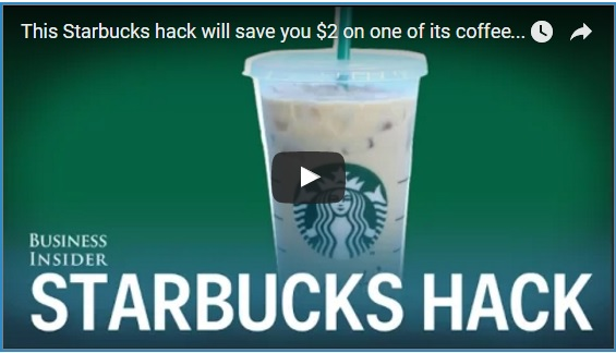 Starbucks Hacks How to Save $2 On Your Drink + 12 Other $ Saving Tips!