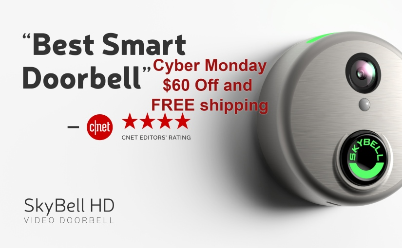 $60 OFF SkyBell Video Doorbell for Cyber Monday w/ #Free Shipping #CyberMonday #SkyBell