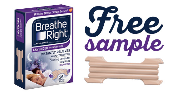 Get a #Free #Sample of Breathe Right #Lavender scented nose strips!