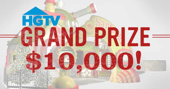 HGTV has a Holiday Sweepstakes to Win $10,000 GrandPrize