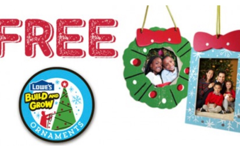 #Free Lowe's Build and Grow Christmas Ornament