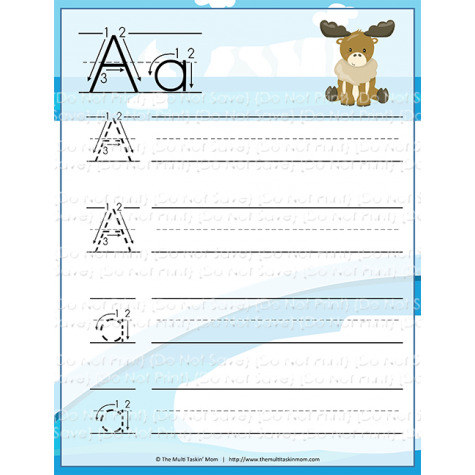 Totally #FREE Animals Handwriting Practice Manuscript #Educents @educents #homeschool #learning#teacher