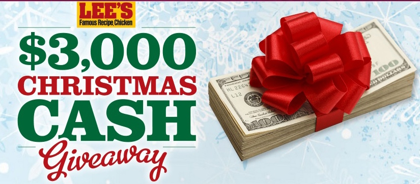 $3,000 #Christmas #Sweepstakes hosted by Lee's Famous Recipe Chicken #giveaway #holiday