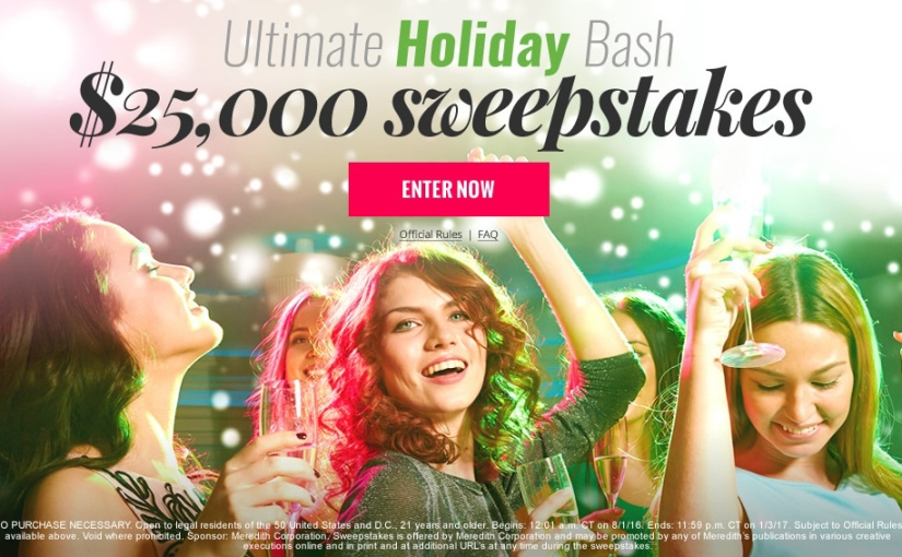 Enter to #Win an Ultimate #Holiday Bash $25,000#Sweepstakes