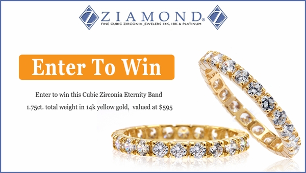 Ziamonds #Sweepstakes Win A #FREE Round Prong Set Eternity Band In 14k Yellow Gold, $595Value#