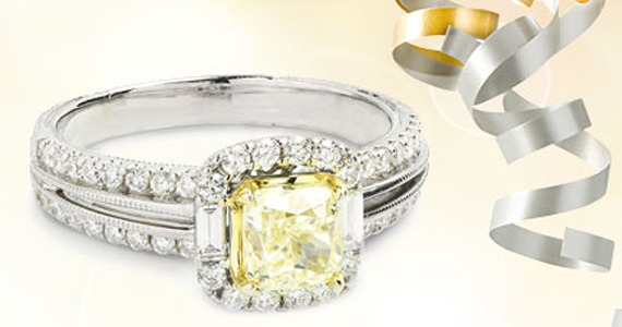 #Win a 1 Carat Yellow #Diamond Ring #Sweepstakes