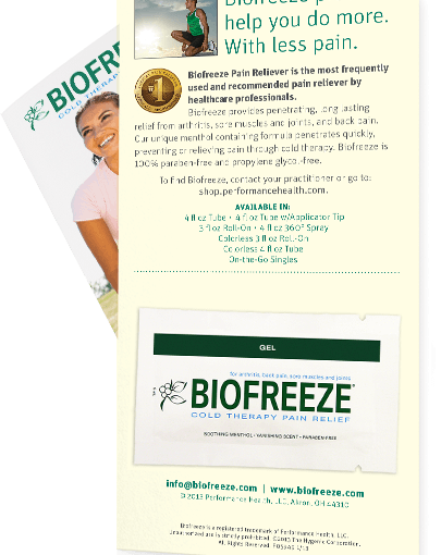 Totally Free Biofreeze Sample