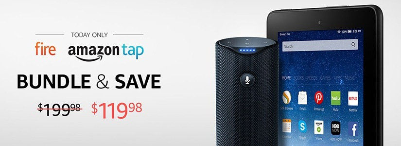 HOT DEAL! If you order an Amazon Tap and Fire Table together you'll save $80 !! Only $119 (Reg $200)