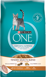 Free Sample of Purina One Tender Selects Cat Food From PurinaONE