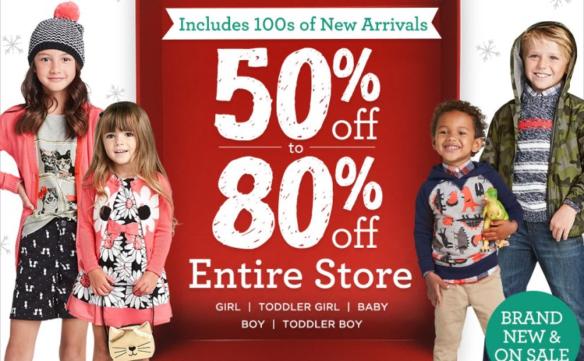 *HURRY* 50% Off Entire Purchase on the Gymboree Site! Plus, some items are marked down to 80% off