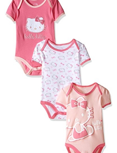 *Hot* Hello Kitty Set of 3 Bodysuits $4.76 (That's $1.58 ea)