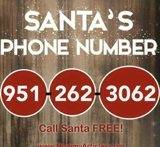 Let your kids Call Santa FREE of charge! #santa #christmas #free