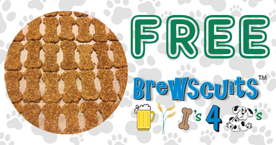 Score a unique treat for man's best friend from Brewscuits