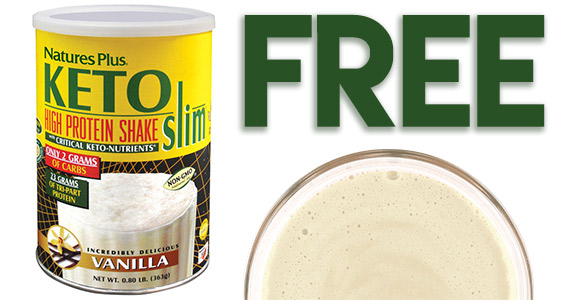 Natures Plus is offering #free samples of Keto Slim High Protein Shake