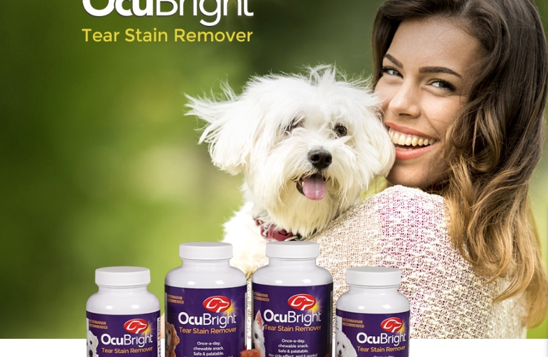 FREE 30 Supply OcuBright Tear Stain Remover fordogs