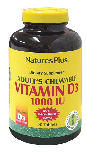 Adult's Chewable Vitamin D3 1000 IU – Maui Berry Burst Flavor