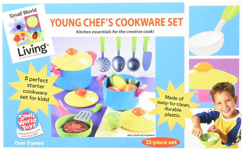 $7.01 (Reg $23.99) Small World Toys Living – Young Chef Cookware 11 Pc. Playset
