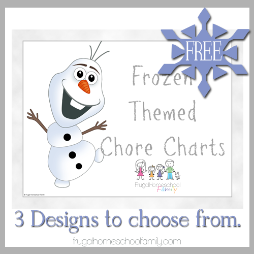 FREE Frozen Themed Chore Charts