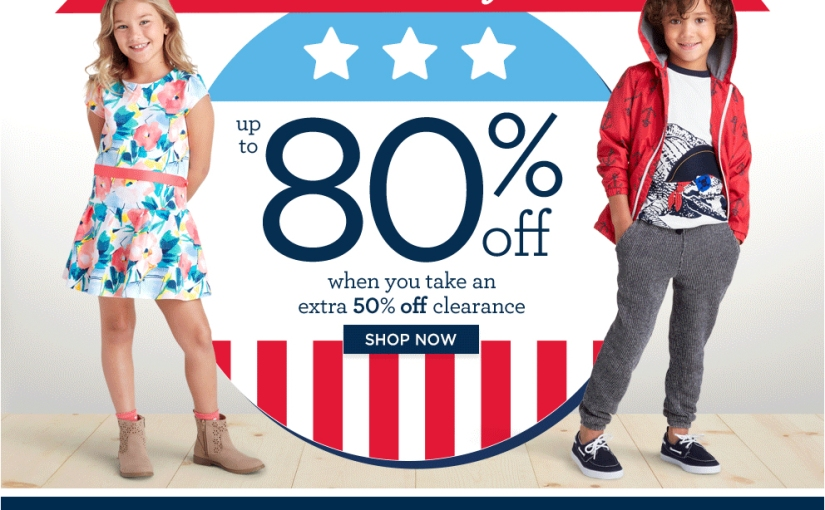 President's Day Sale – Up to 80% Off Everything at Gymboree Babies and Kids Clothes!