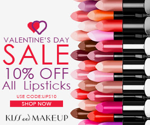 Kiss & Makeup Online is offering a nice Valentine's Day Sale!