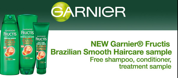 Free Garnier Brazilian Smooth Haircare Sampleand treatment #sample #