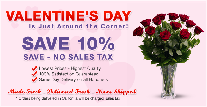 Save 10% on Fresh Flower Delivered
