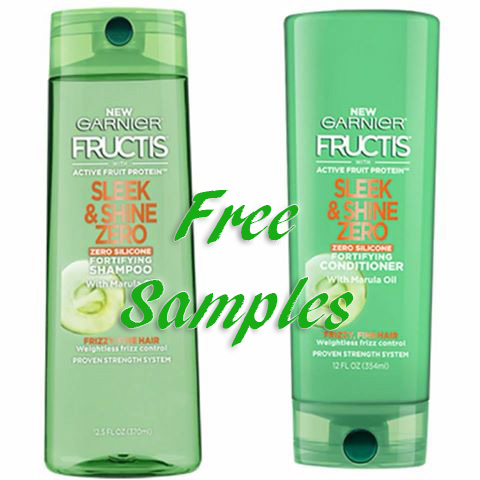 Free Garnier Fructis Sleek and Shine Zero Shampoo and Conditioner