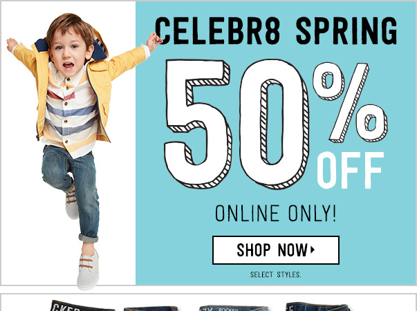 $8.99 Jeans at Crazy8 – OnlineOnly!