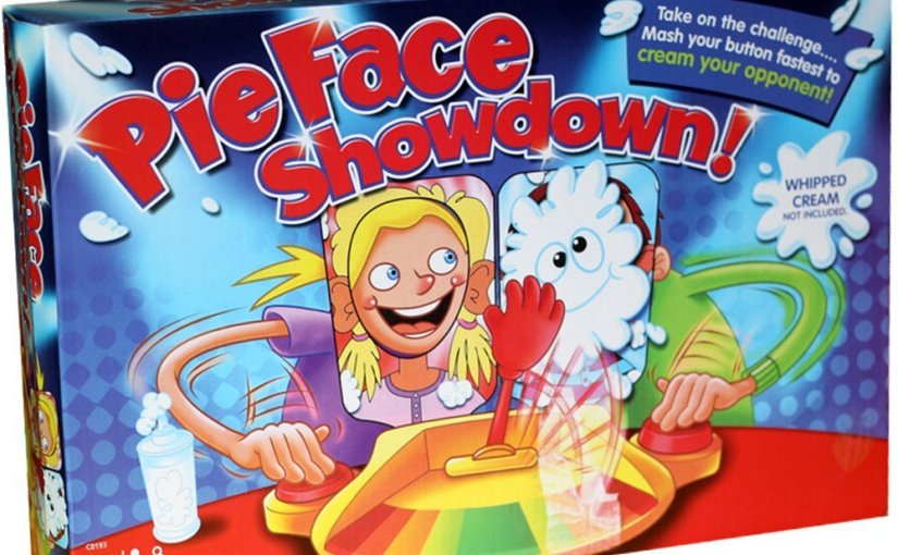 Looking for some entertainment? Fun for adults and kids. Pie Face is on Sale!