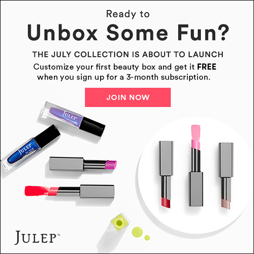 Get a Totally Free Julep Box W/ FULL SIZE MAKEUP