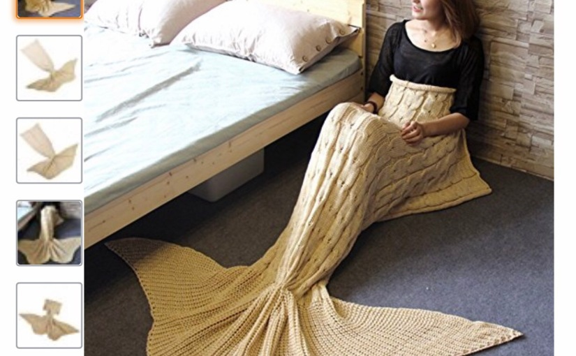 Mermaid tail blanket $6.99 + free Prime Shipping – Perfect Easter Basket Gift