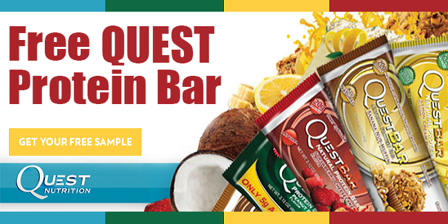 Right now you can get 2 free Quest Nutrition Samples