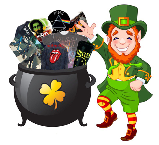 Win $500 in Amazing Rock Merchandise for St. Patrick's Day FromRock.com!