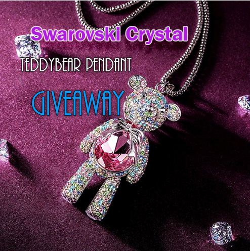 *Giveaway* Swarovski Crystals Teddy Bear Crystal Pendant Giveaway