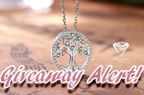 *Giveaway Alert* 925 Sterling Silver Pendant Necklace made with Swarovski Crystals