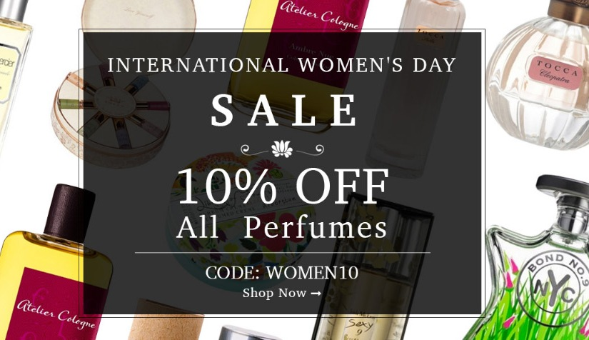*SALE* Kiss and Makeup has all perfumes on sale in honor of International Women's Day