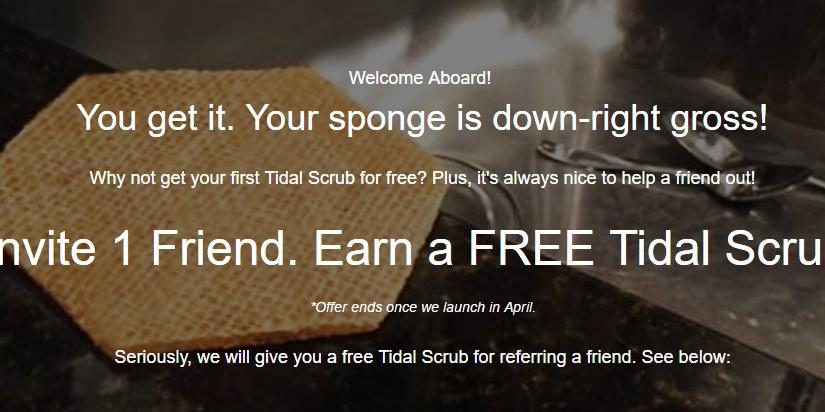 Free Tidal Scrub scrubber made with HEMPfibers