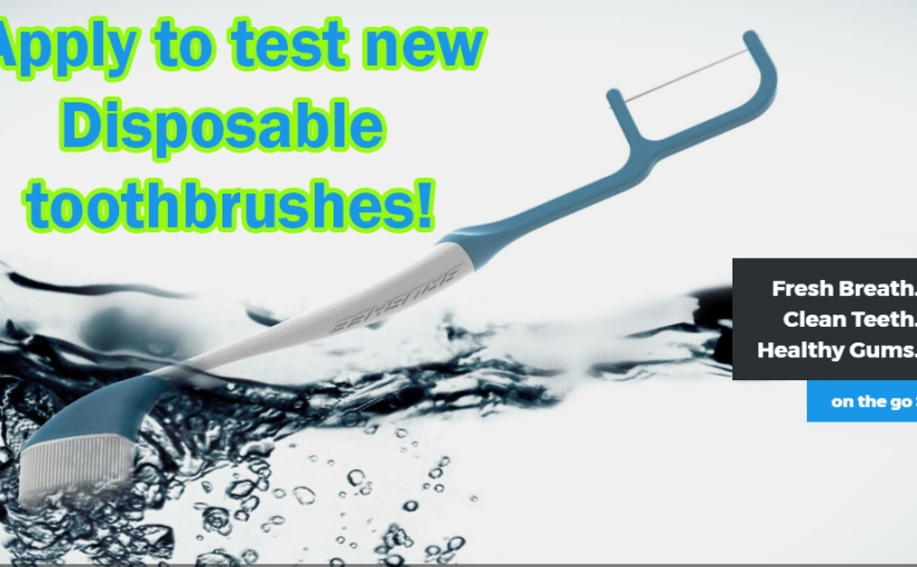 Apply to test new Brushee Disposable Toothbrushes!