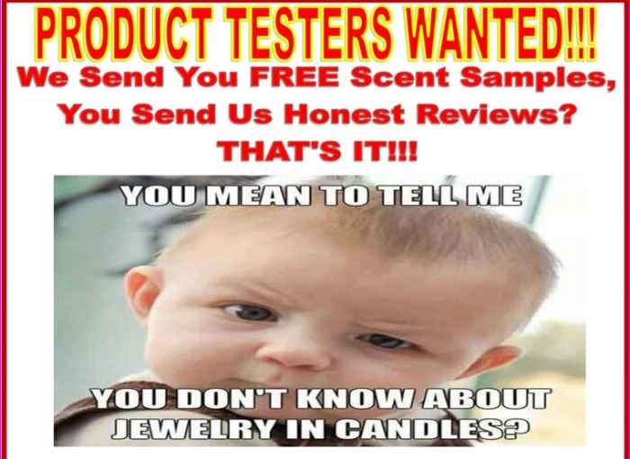 FREE Scent Sample From Surprise Jewelry InCandles
